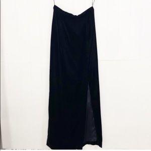 A.J. Bari   VTG Black Spaghetti Strap Long Dress